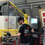 Sky Hook single person lift for CNC machinery
